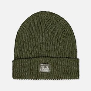 Cotton On Men's Women's Basic Ribbed Green Beanie